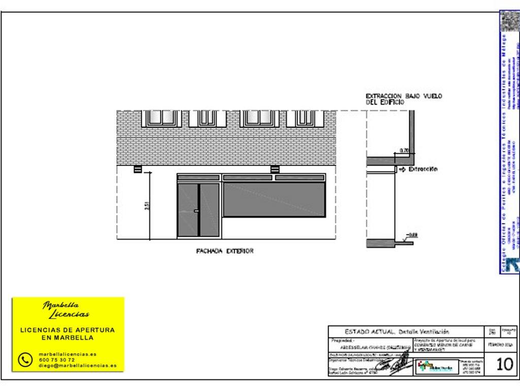 Proyecto Licencia Apertura Carniceria Marbella 005