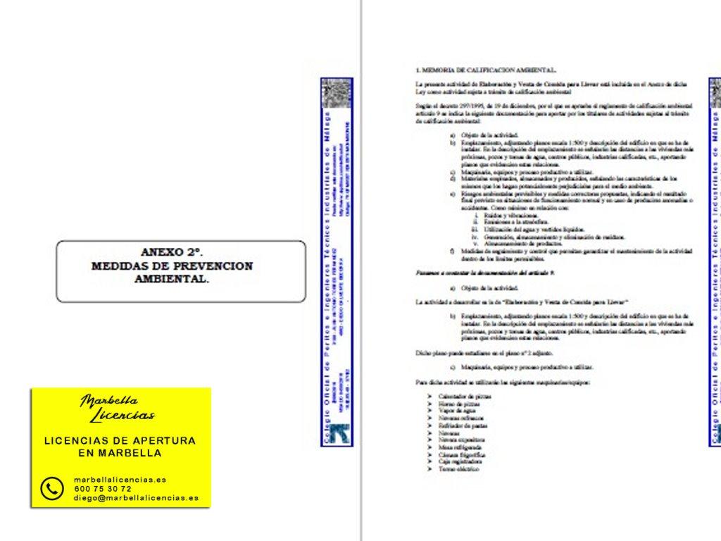 Proyecto Licencia apertura comida para llevar Marbella 001