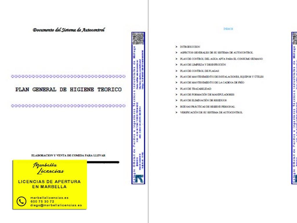 Proyecto Licencia apertura comida para llevar Marbella 003
