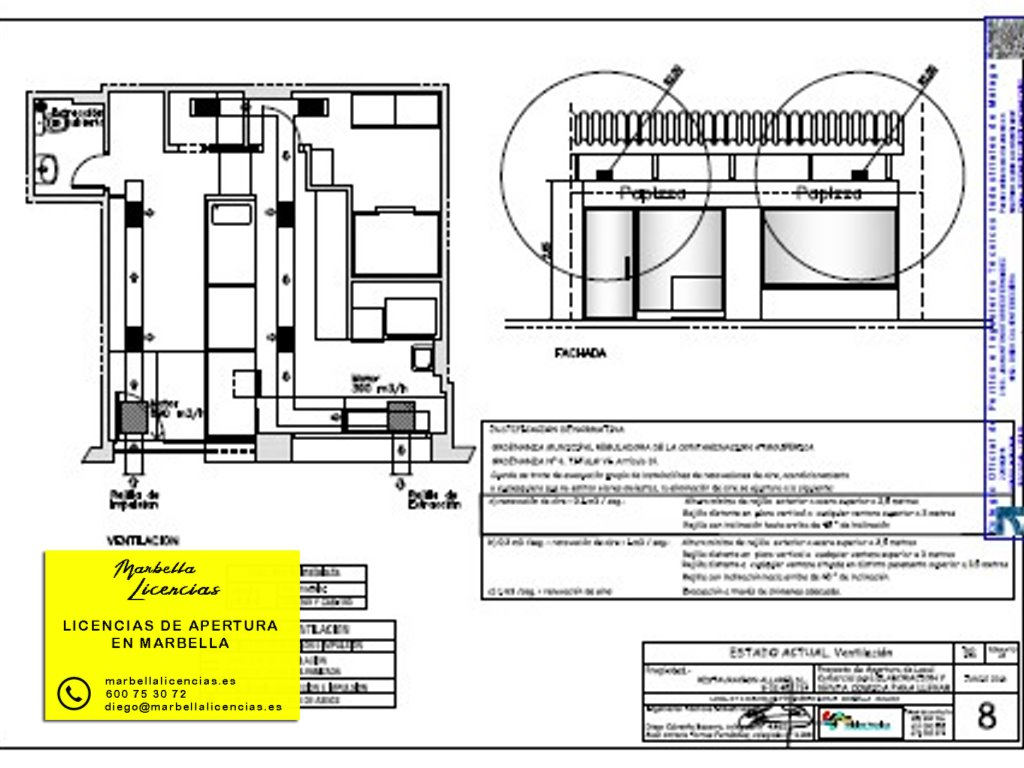 Proyecto Licencia apertura comida para llevar Marbella 006